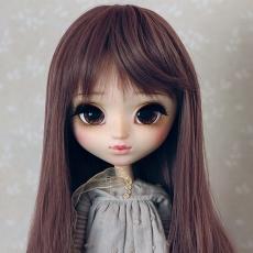 9-10 Long medium waved Wig - Rosy Brown