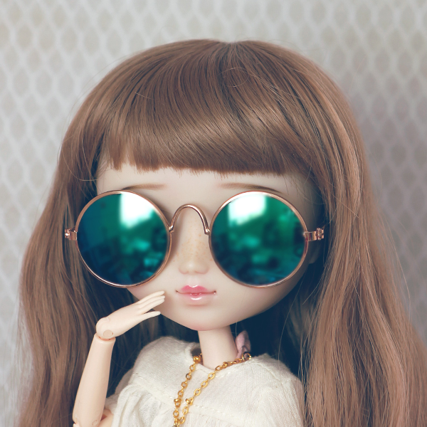 Sunglasses Für Blue Und Retro Pullip Green Blythe mwN80vnO