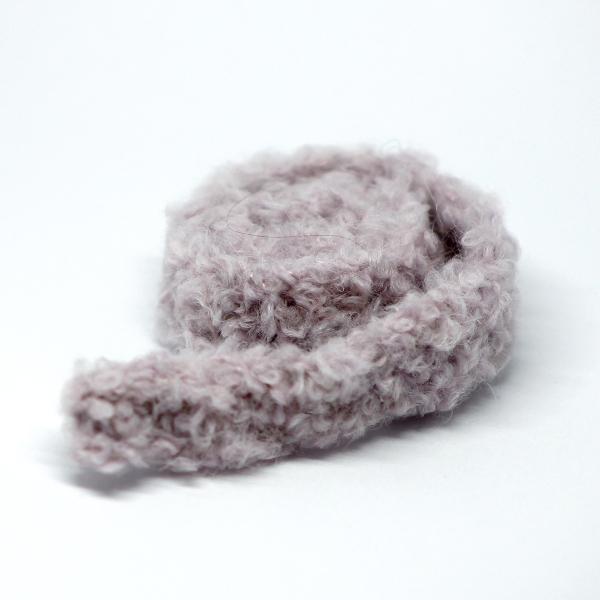 Handknitted Fluffy grey-purple Scarf