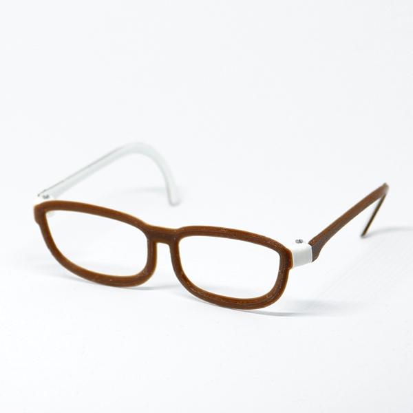 Glasses - Classic 2-colored White/Brown für Pullip