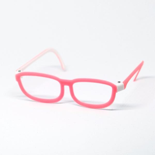 Glasses - Classic 2-colored White/Pink für Pullip