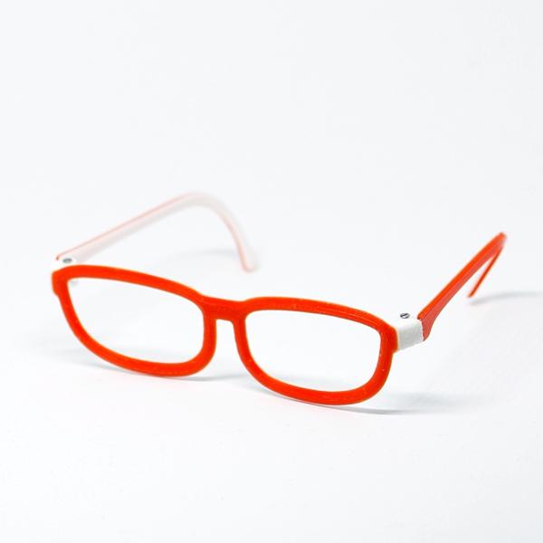 Glasses - Classic 2-colored White/Red für Pullip