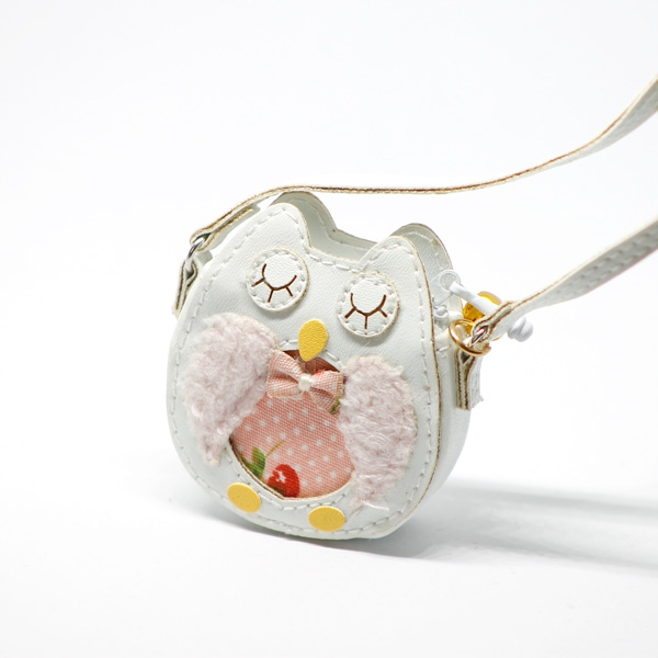 White Owl Bag with Metal Bell