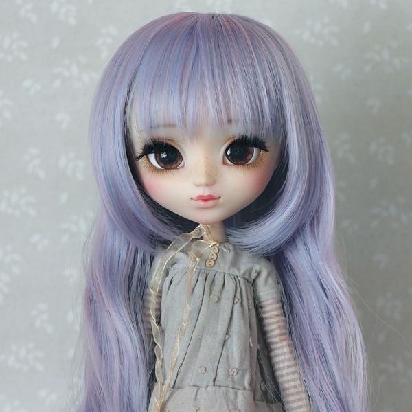 9-10 extra long wavy Wig - Lilac