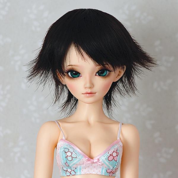 6-7 short rebellious Wig - Soft Black