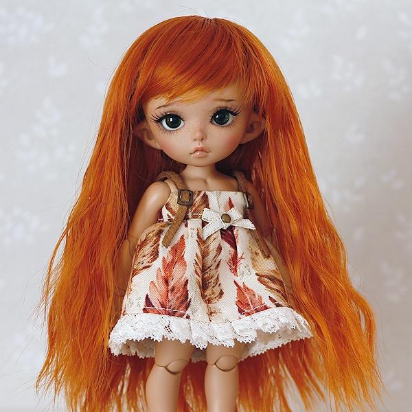 5-6 Long wavy Wig - Carrot