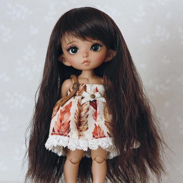 5-6 Long wavy Wig - Natural Black