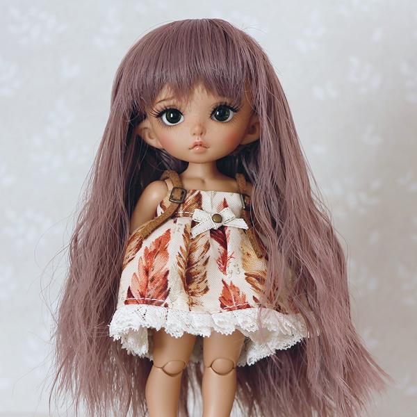 5-6 Long wavy Wig - Rosy Brown