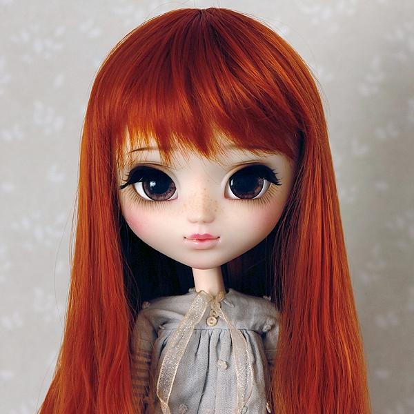 9-10 Long medium waved Wig - Carrot
