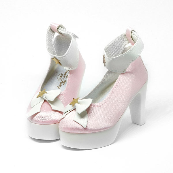 Pink High-Heels with Ribbon and stars