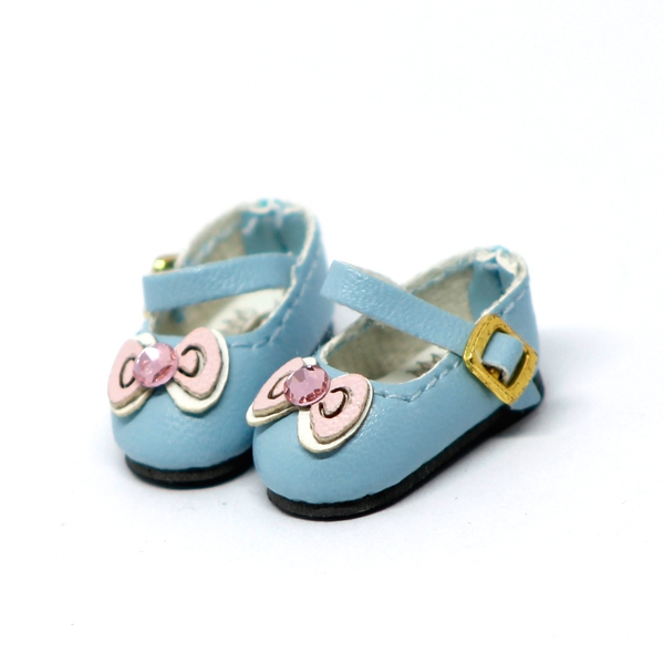 Blue Shoes with Ribbon
