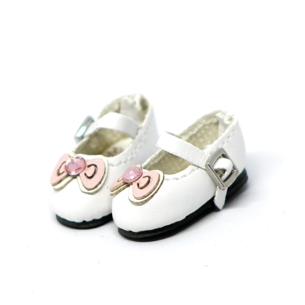 White Shoes with Ribbon