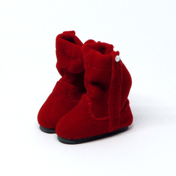 Red fluffy Winterboots