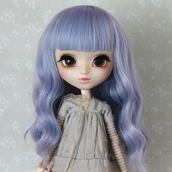 9-10 Medium wavy Wig - Greyish Blue