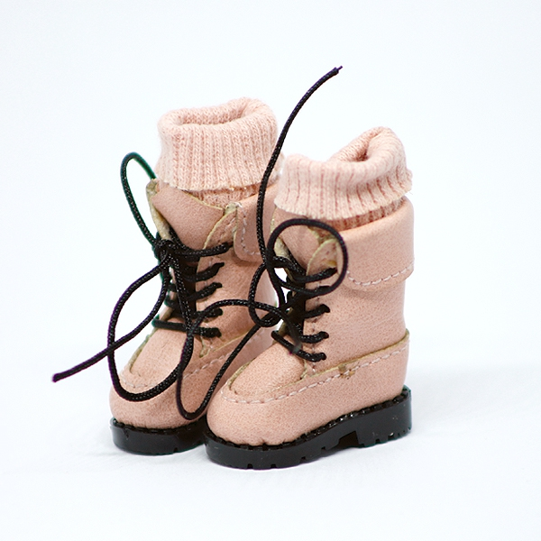 Pink high Boots with socks