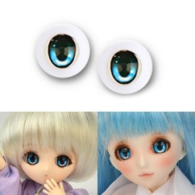 BJD Acrylic Anime Eyes - Iris B Skyblue