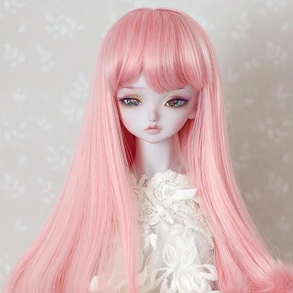 7-8 medium Wig - Sweet Pink