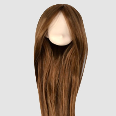 Obitsu Rooted Brown Hair Vinyl Head - White Skin
