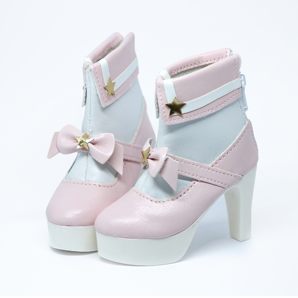 Pink Lolita High-Heels with Ribbon and stars