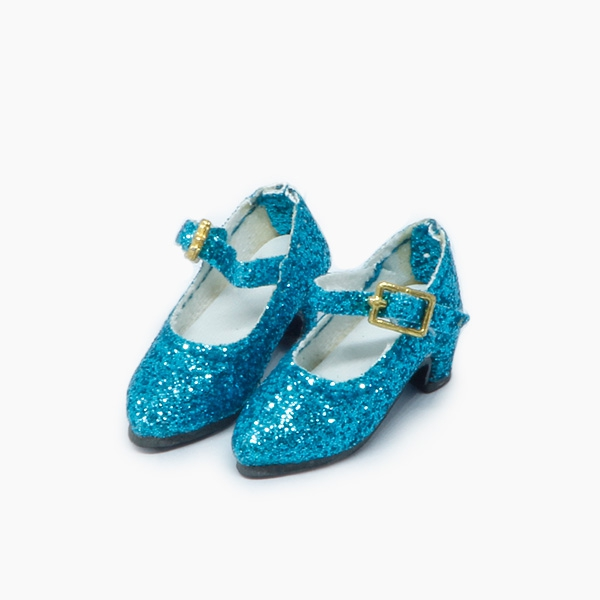 Blue Glitter-Pumps