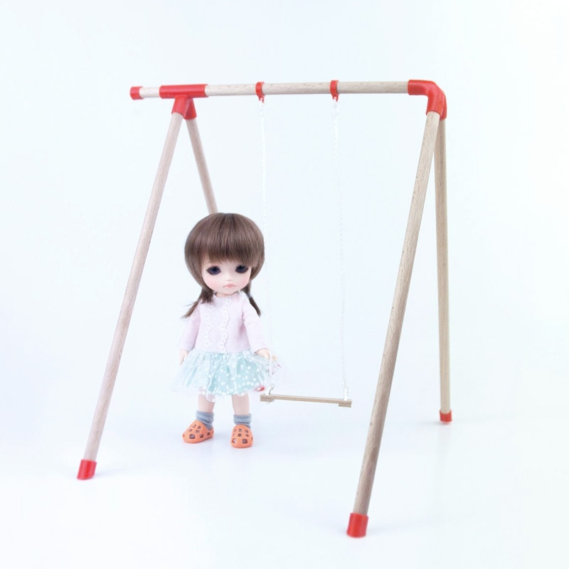 Miniature swing DIY set for dolls 1/12