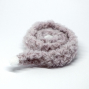 Handknitted Fluffy grey-purple Scarf with PomPoms
