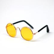 Retro Sunglasses Yellow für Pullip und Blythe