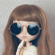 Retro Sunglasses Black für Pullip und Blythe