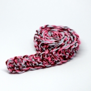 Handknitted pink patterned Scarf