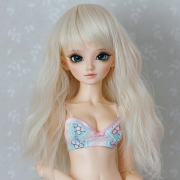 6-7 medium wavy Wig - Soft Blond
