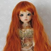 7-8 long wavy Wig - Carrot