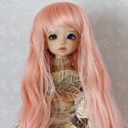 7-8 long wavy Wig - Milky Pink