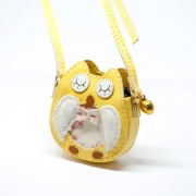 Yellow Owl Bag with Metal Bell