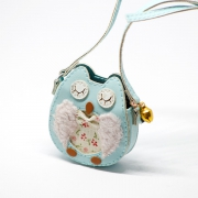 Blue Owl Bag with Metal Bell