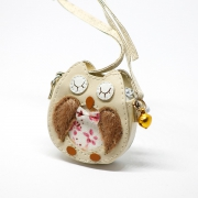 Pale brown Owl Bag with Metal Bell