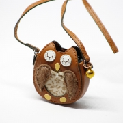 Brown Owl Bag with Metal Bell