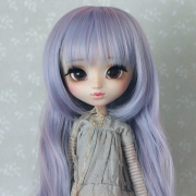 9-10 extra long wavy Wig - Lilac