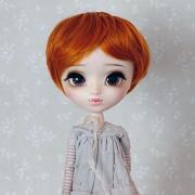 9-10 short wavy Wig - Caramel Orange