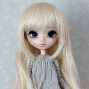 9-10 extra long wavy Wig - Milky Blond