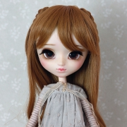 9-10 long curled Wig with curled braids - Sienna