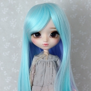 9-10 long 2-colored Wig - Purple Ocean