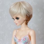6-7 short wavy 2-colored Wig - Blond/Sienna