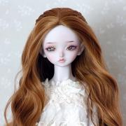 7-8 medium long wavy Wig with braids - Sienna