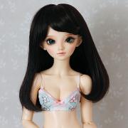6-7 medium Wig - Soft Black