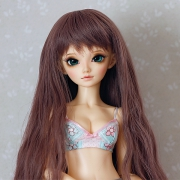 6-7 Long wavy Wig - Rosy Brown