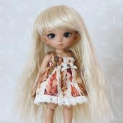 5-6 Long wavy Wig - Natural Blond