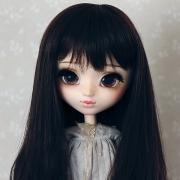 9-10 Long medium waved Wig - Natural Black
