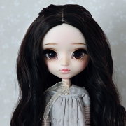 9-10 Medium Wig with small braids - Soft Black