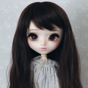 9-10 Long waved Wig - Natural Black