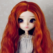 9-10 Long Wavy Wig without Bangs - Carrot